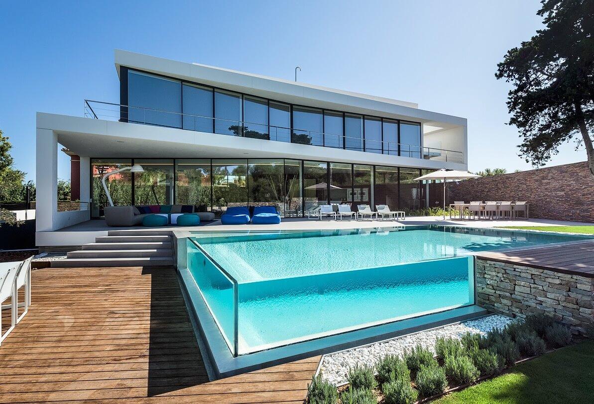 Cool blue villa 123dv modern villas - Huis design met zwembad ...